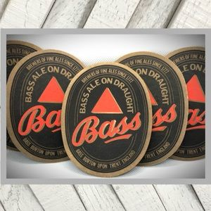 Vintage Set of Bass Ale on Draught Coasters